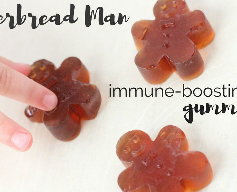Gingerbread Man Immune-Boosting Gummy Recipe for the Holidays and Beyond