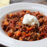 A true southern classic: Texas Slow Cooker Beef Chili, a recipe from Down South Paleo by Jennifer Robbins