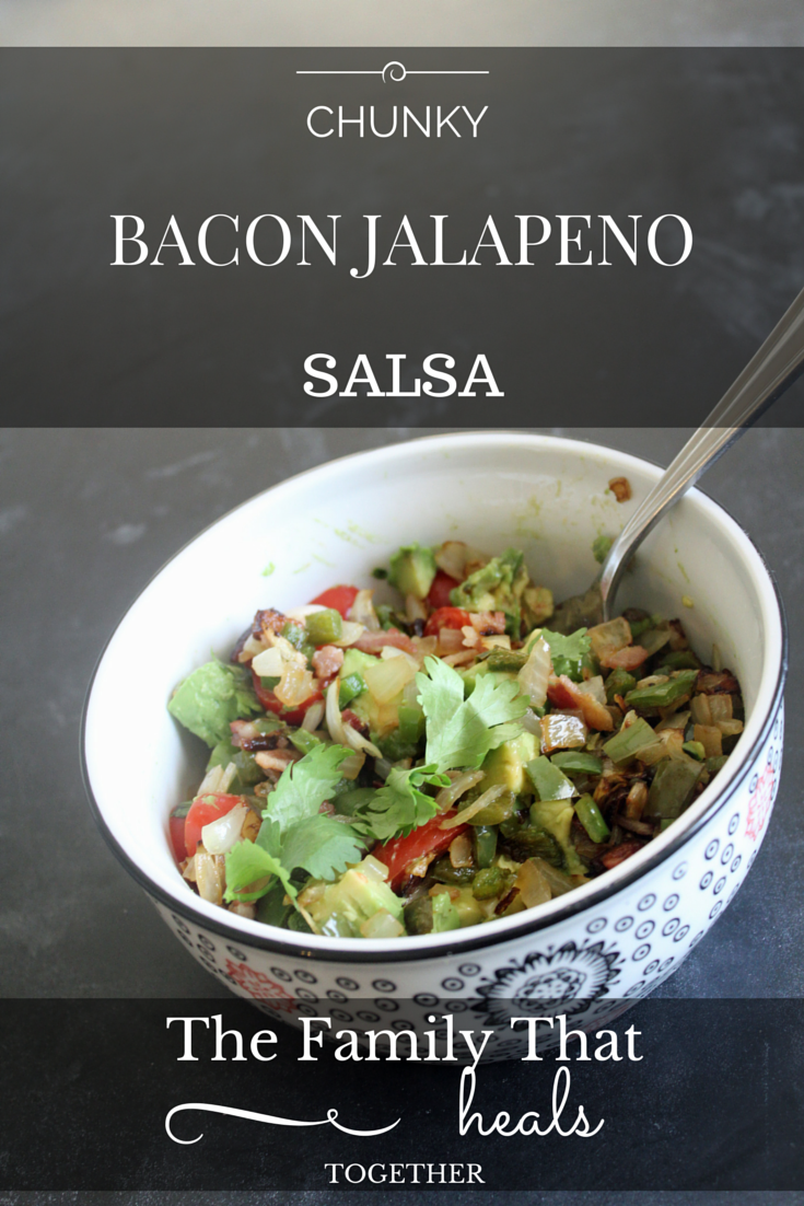 Chunky Bacon Jalepano Salsa Recipe- paleo-friendly, with a delightful combination of flavors!