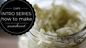 Sauerkraut is one of the most important aspects of the GAPS diet! Here, I'll show you how to make the healthiest, best-tasting sauerkraut you can eat!