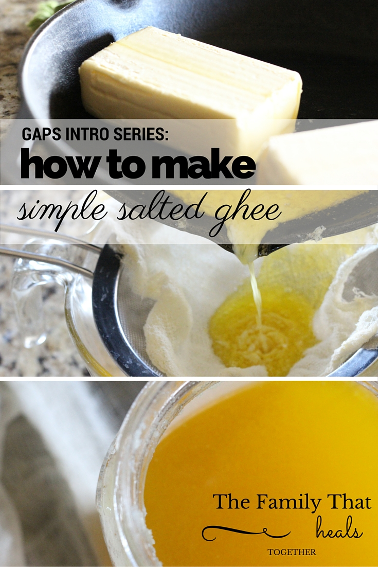 Ghee really is liquid gold- and so easy to make! Check out this recipe for simple salted ghee, boasting tons of nutritional value, even for many who don't typically tolerate dairy.