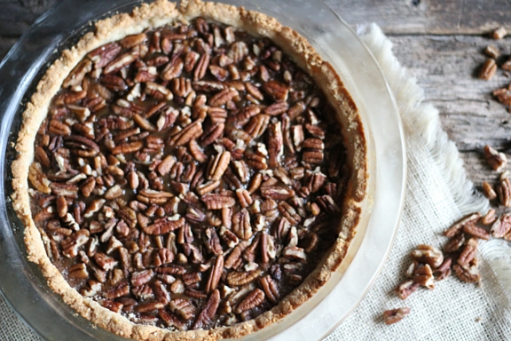 A GAPS diet- friendly pecan pie recipe with no junky ingredients from The Family That Heals Together