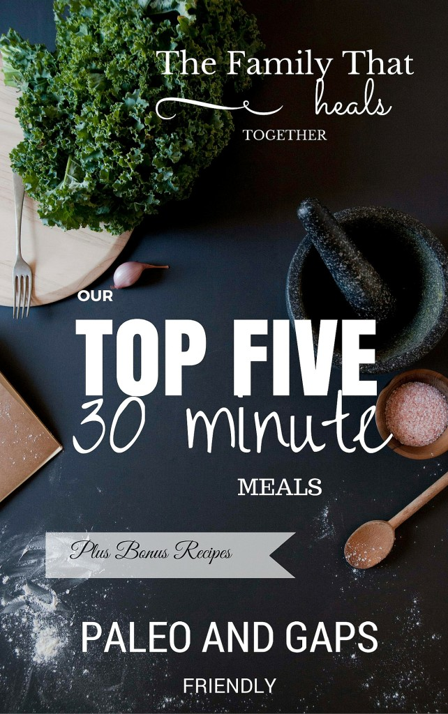 Free e-book: 30 Minute GAPS and Paleo Meals - The Family That Heals Together