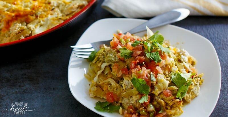 Grain-Free Chicken Enchilada Casserole Recipe
