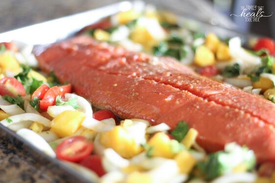 Salmon with Mango Salsa | Paleo + Keto + GAPS | The Family That Heals Together