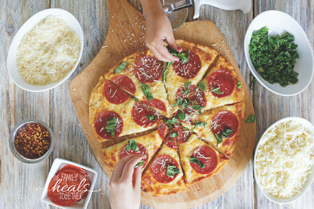 Rustic Paleo Pizza Galette Recipe (Pizzette!) with AIP Option | The Family That Heals Together