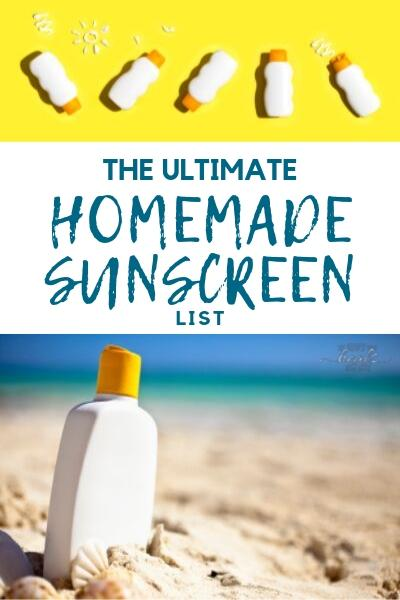 The Ultimate Homemade Sunscreen List (with recipe!) | The Family That Heals Together