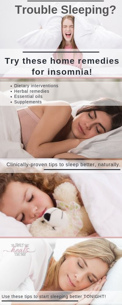 Home Remedies for Insomnia | The Family That Heals Together